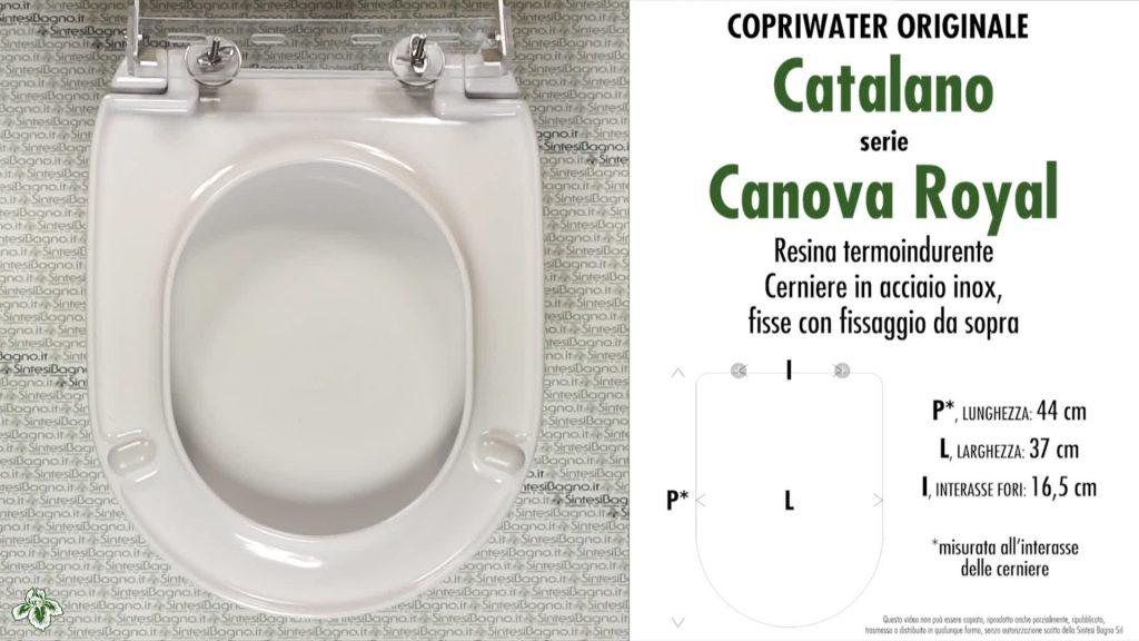 Copriwater. CANOVA ROYAL. Catalano. Sedile ORIGINALE. Bianco