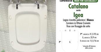 Serie IGEA / CATALANO – Sostituire il COPRIWATER! RICAMBIO in PRONTA ...
