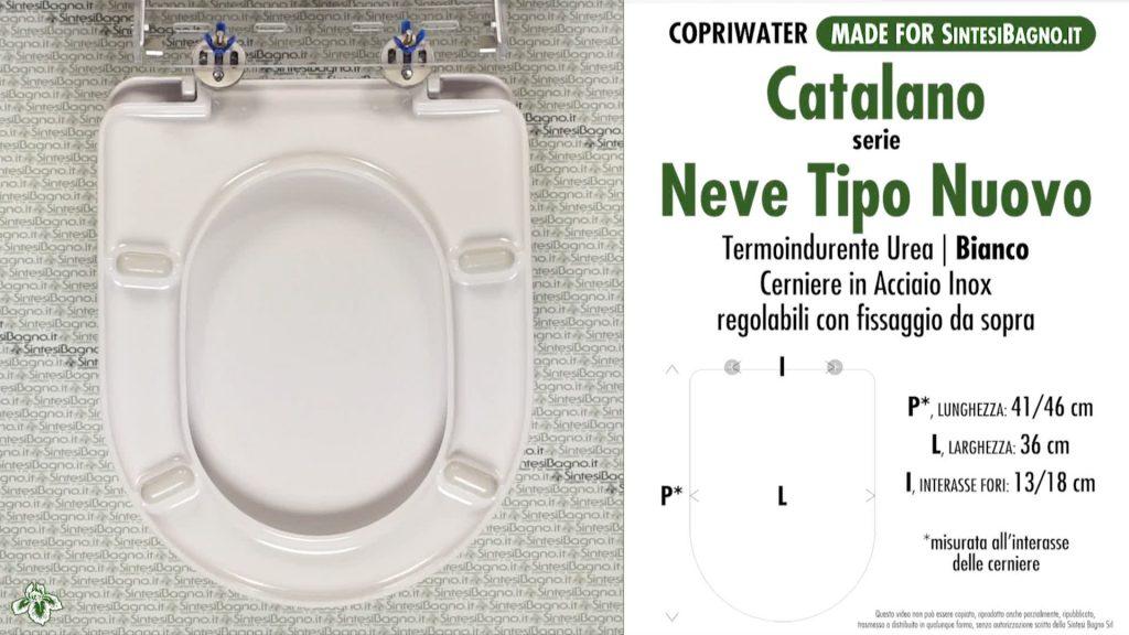 Copriwater. NEVE. Catalano. Sedile COMPATIBILE. Bianco