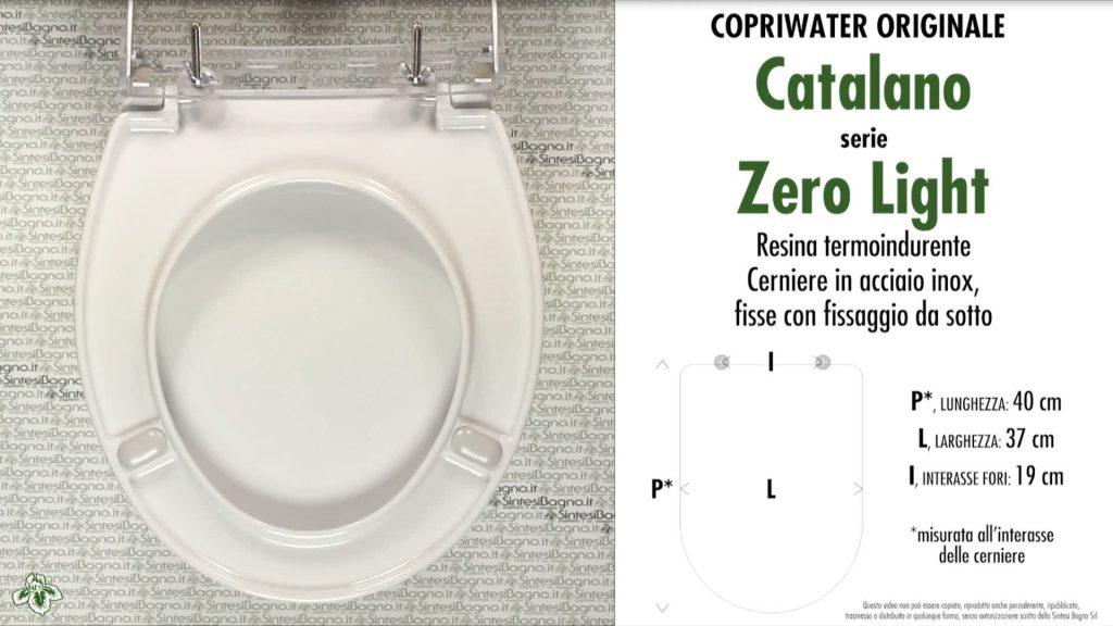 Copriwater. ZERO LIGHT. Catalano. Sedile ORIGINALE. Bianco