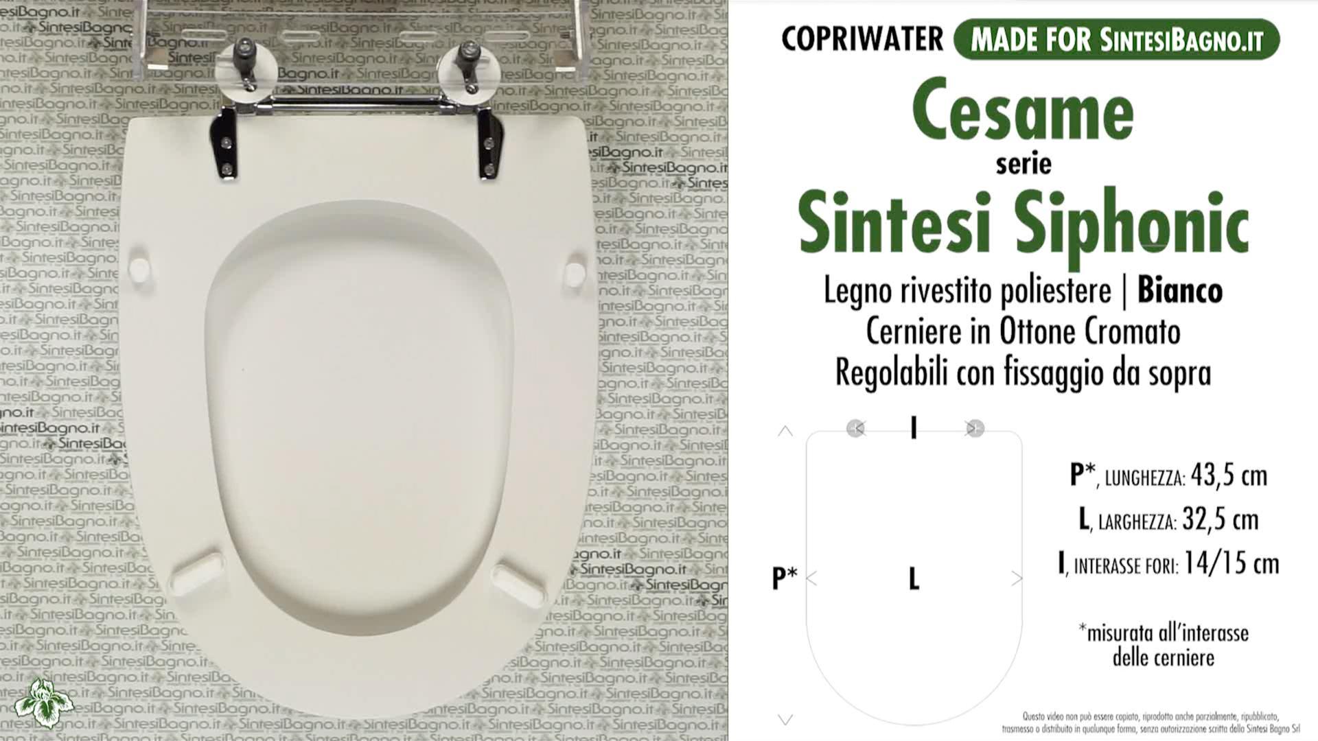 Huis Copriwater Cesame Sintesi Bianco Cerniera Cromo Sedile Asse Wc Luxclusif Com