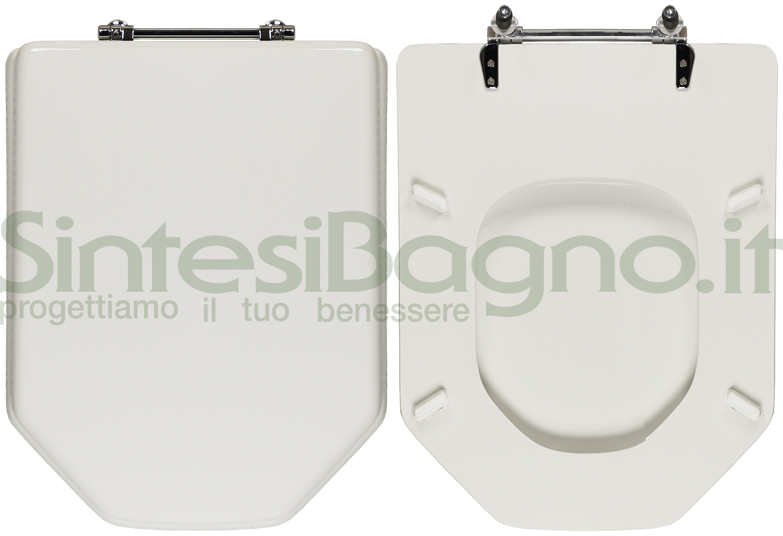 Copriwater. Absolute Classic. Ideal standard. Dedicato. Bianco