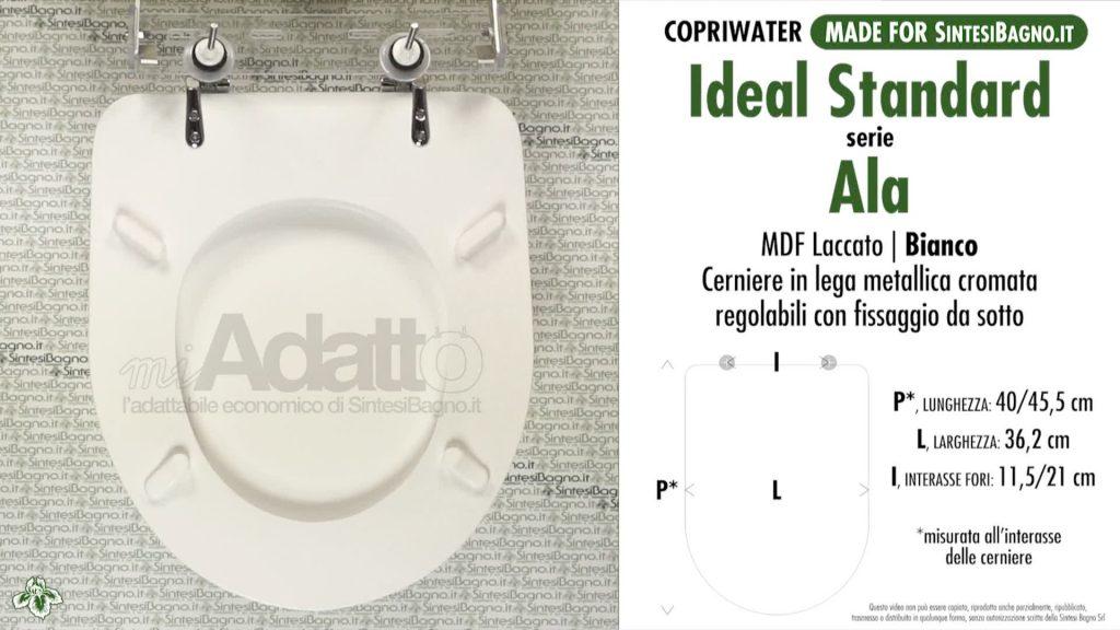 Copriwater. Ala. Ideal standard. Adattabile. Bianco