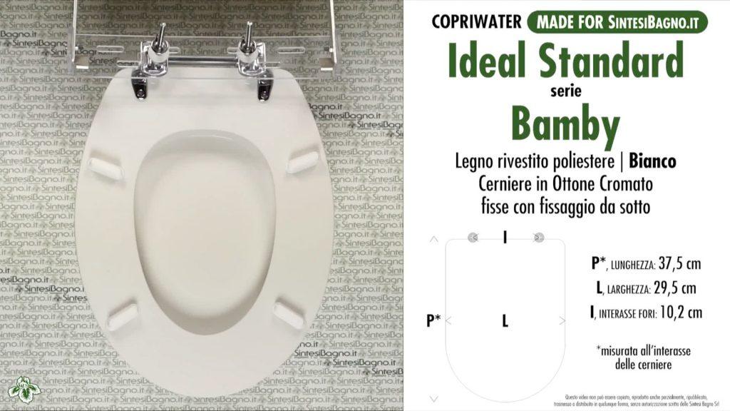 Modello BAMBY per ceramiche IDEAL STANDARD e SCALA