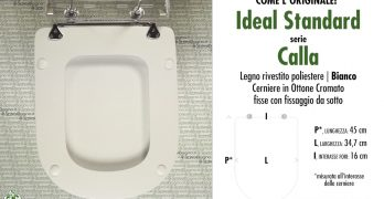 Cosa valutare prima di scegliere copriwater CALLA IDEAL STANDARD di ricambio