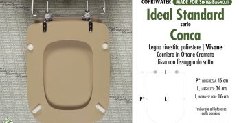 Serie conca ideal standard sostituire il copriwater for Ideal standard conca visone