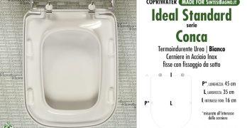 Sedile Conca Ideal Standard Originale.Ricambi Copriwater Per Wc Conca Qui Lo Trovi In Pronta Consegna