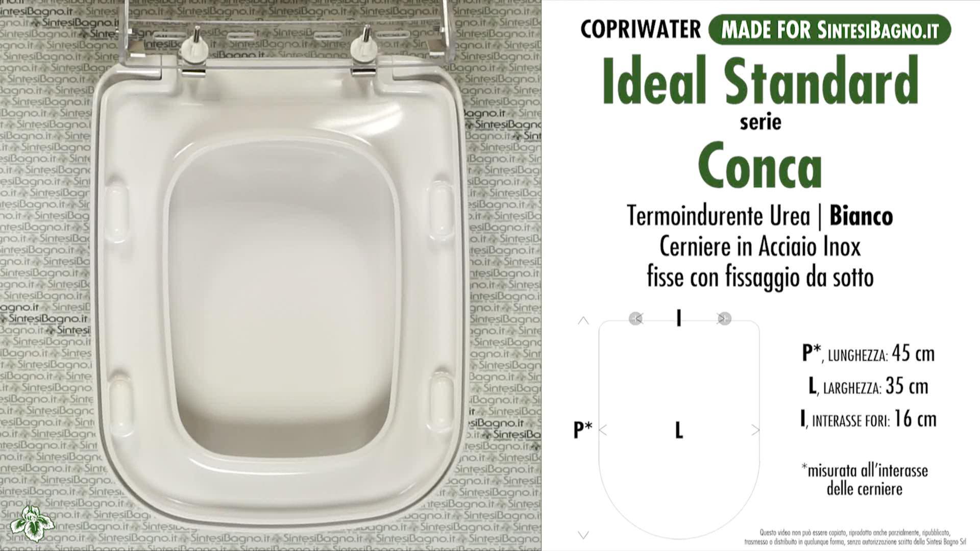 Copriwater conca ideal standard come l originale for Ideal standard conca prezzo