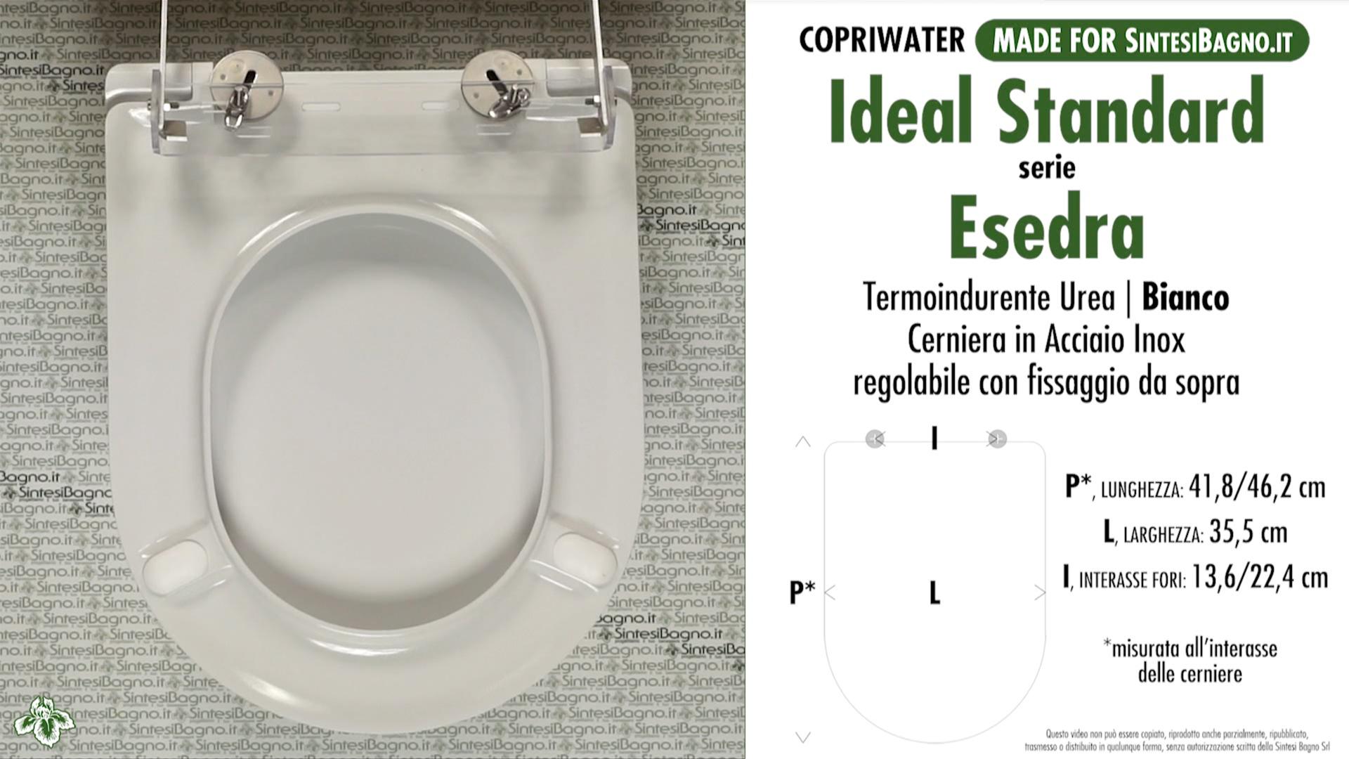 Sedile Wc Ideal Standard Serie Tonda.Copriwater Esedra Soft Close Ideal Standard Dedicato Bianco