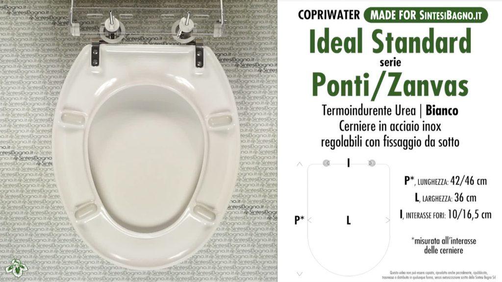 Copriwater. PONTI Z. Ideal standard. COMPATIBILE. ECONOMICO. Termoindurente. BIANCO