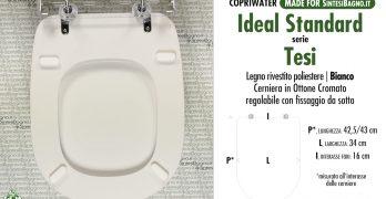 S/ì Ideal Standard Connect-Linda Sedile Copriwater Dedicato Slow Close Bianco