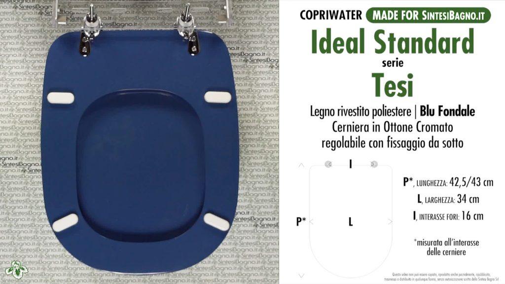 Copriwater. TESI. Ideal standard. Dedicato. BLU FONDALE
