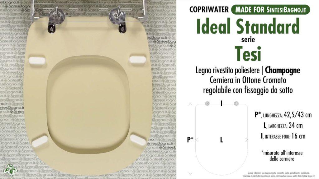 Copriwater. TESI. Ideal standard. Dedicato. CHAMPAGNE