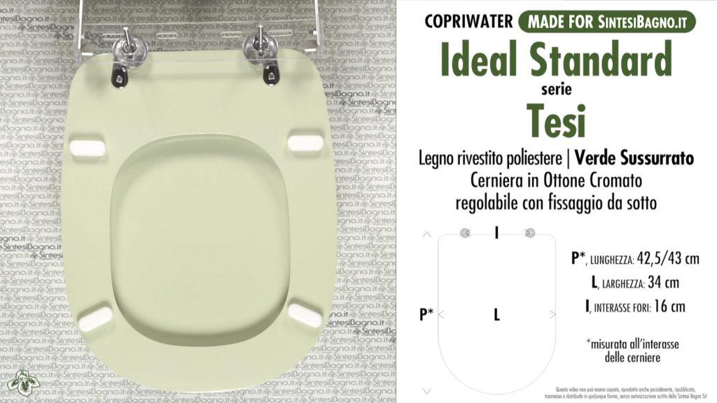 Copriwater. TESI. Ideal standard. Dedicato. VERDE SUSSURRATO