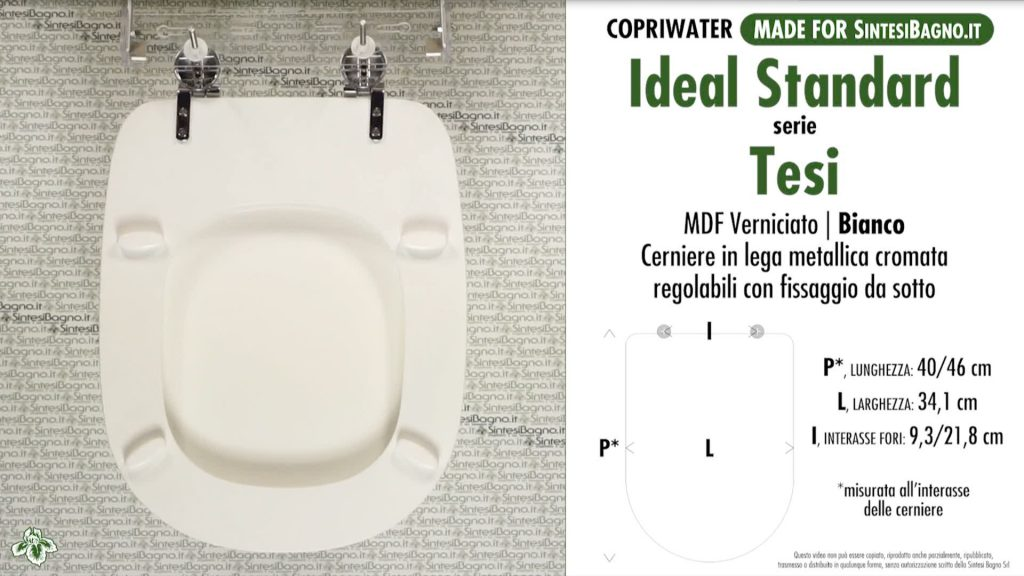 Copriwater. TESI. Ideal standard. Compatibile. BIANCO. E-Business