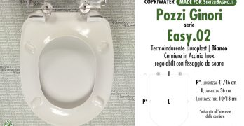 EASY 2. I sedili dedicati in materiale plastico