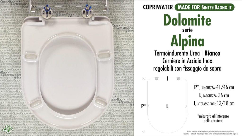 Cosa valutare prima di scegliere un copriwater ALPINA DOLOMITE di ricambio