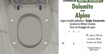 COPRIWATER DOLOMITE ALPINA. I modelli dedicati in legno