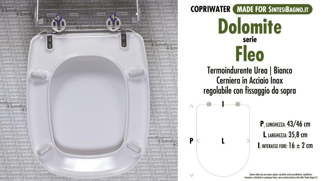 Copriwater. FLEO. Dolomite. Sedile COMPATIBILE. Bianco