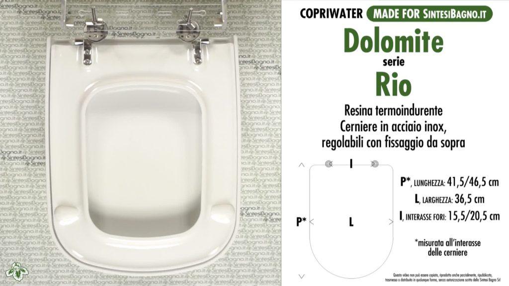 Copriwater. RIO. Dolomite. DEDICATO. DUROPLAST. Bianco