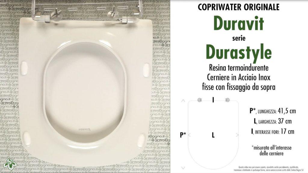 Copriwater. DURASTYLE. Duravit. Sedile ORIGINALE. Bianco