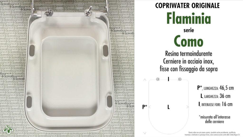 Copriwater. COMO. Flaminia. Sedile ORIGINALE. Bianco