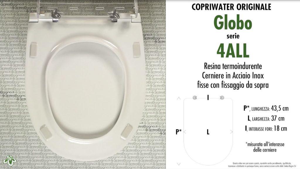 Copriwater. 4ALL. Globo. Sedile ORIGINALE. Bianco