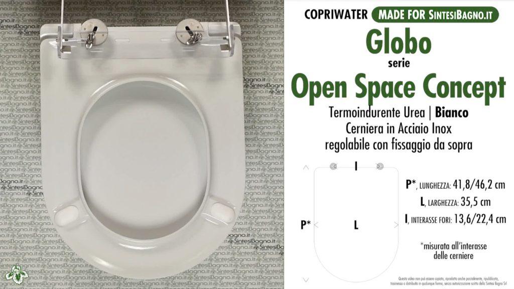 Copriwater. OPEN SPACE CONCEPT. Globo. Sedile DEDICATO. Bianco. UREA. PLUS+
