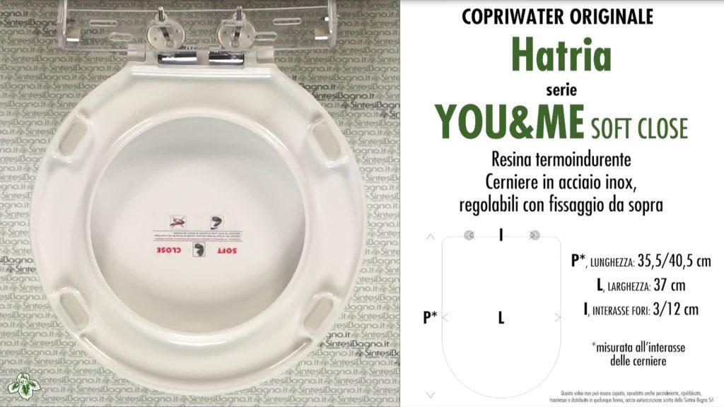 Copriwater. YOU&ME. Hatria. Sedile ORIGINALE. Bianco. SOFT CLOSE