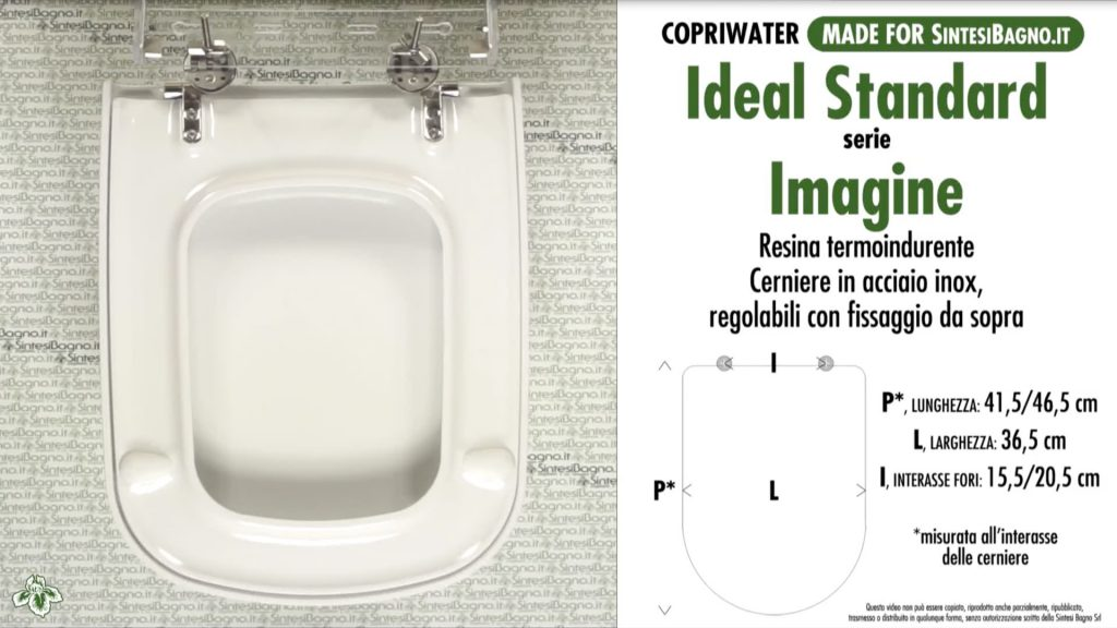 Copriwater. IMAGINE. Ideal standard. DEDICATO. DUROPLAST. Bianco