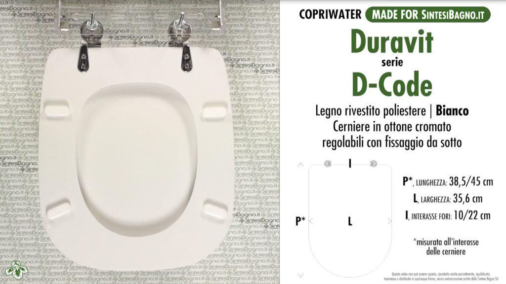 Copriwater. D-CODE. Laufen/Duravit. Sedile DEDICATO. Bianco