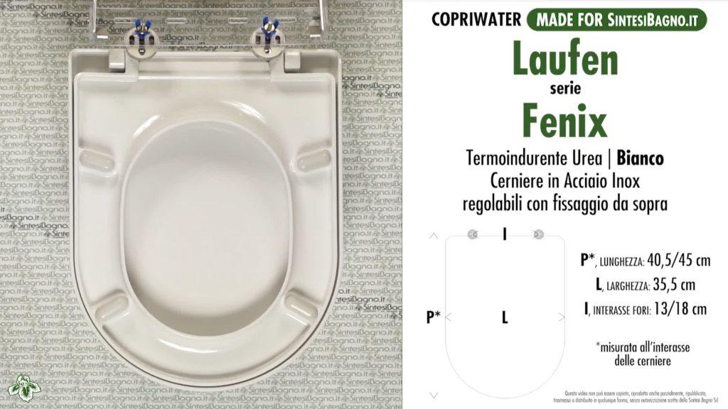 Copriwater. FENIX. Laufen/Duravit. Sedile COMPATIBILE. Bianco. SOFT CLOSE
