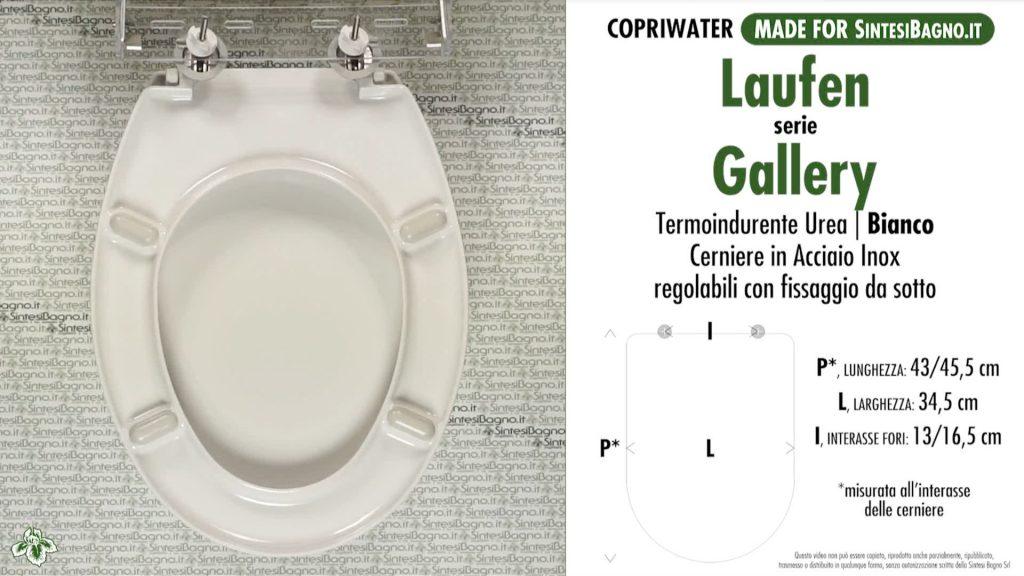 Copriwater. GALLERY. Laufen/Duravit. Sedile COMPATIBILE. Bianco