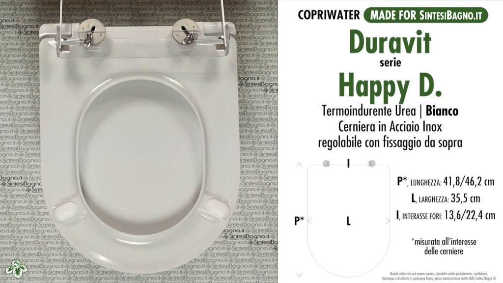 Copriwater. HAPPY D. Laufen/Duravit. Sedile DEDICATO. Bianco. UREA. PLUS+. SOFT CLOSE