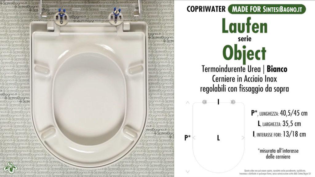 Copriwater. OBJECT. Laufen/Duravit. Sedile COMPATIBILE. Bianco