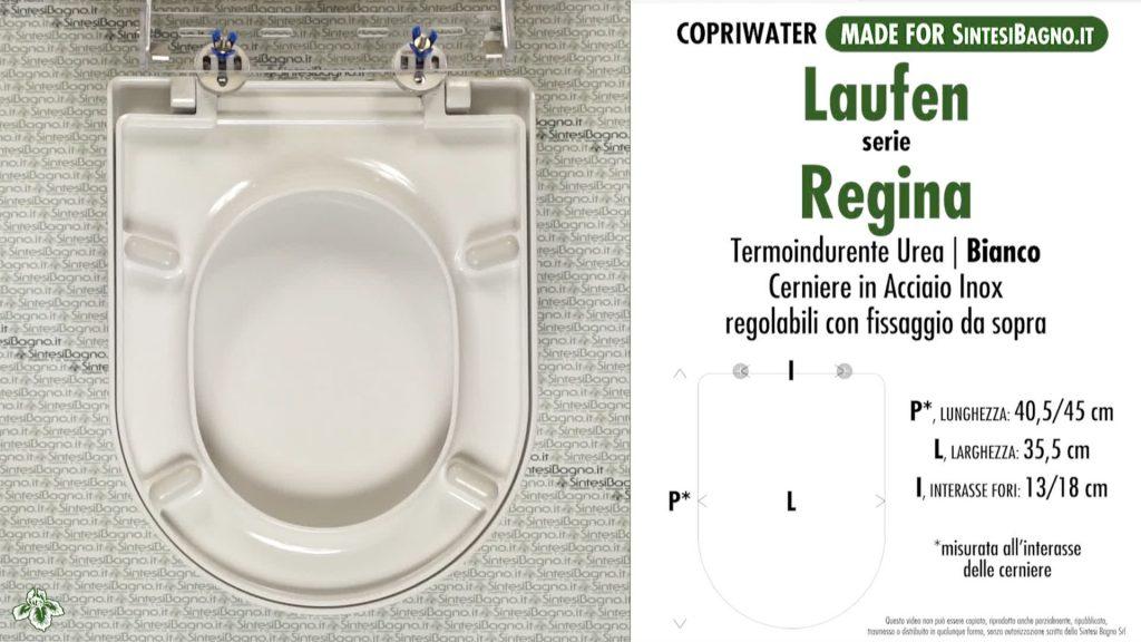 Copriwater. REGINA. Laufen/Duravit. Sedile COMPATIBILE. Bianco. SOFT CLOSE