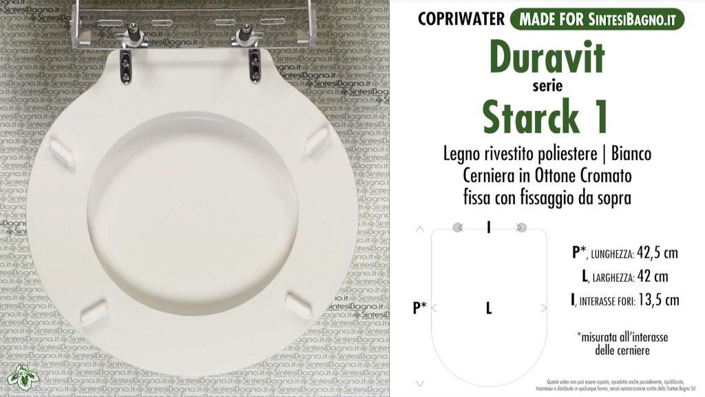 La versione DEDICATA in LEGNO per il ricambio copriwater STARCK 1