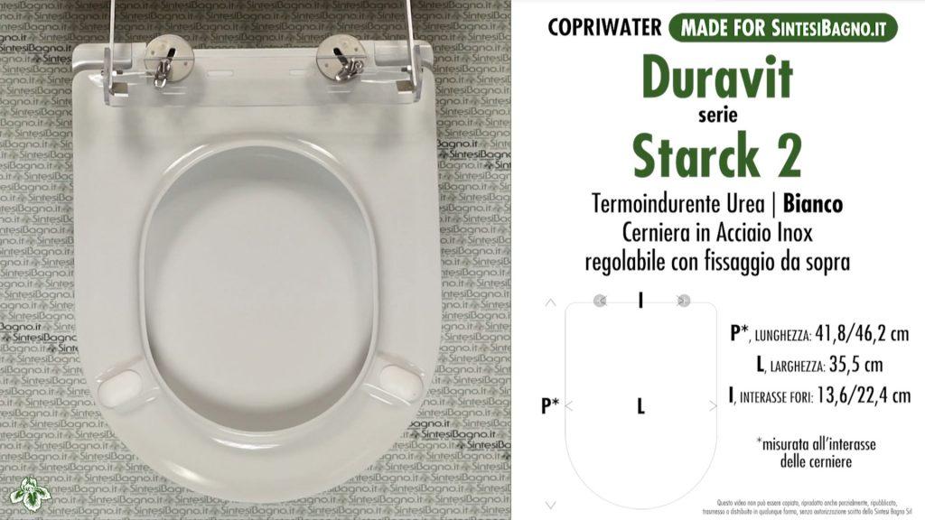 Copriwater. STARCK 2. Laufen/Duravit. Sedile DEDICATO. Bianco. UREA. PLUS+