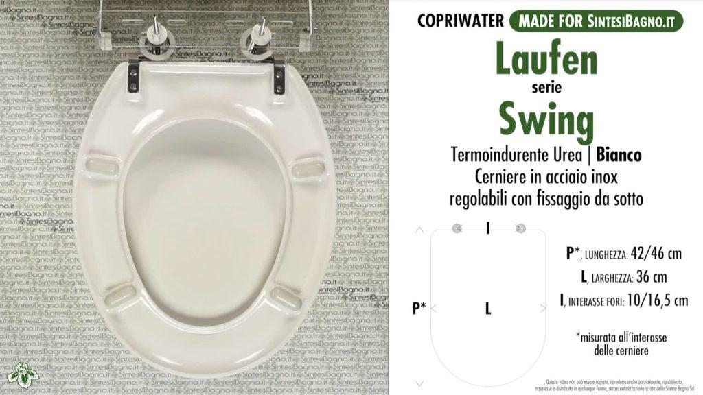 Copriwater. SWING. Laufen/Duravit. Sedile COMPATIBILE. Bianco