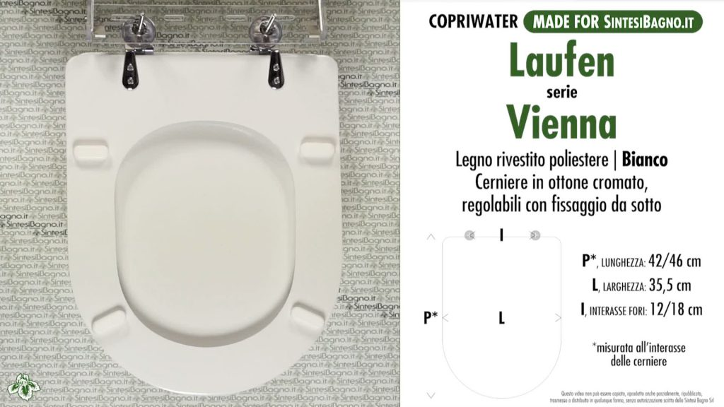 Copriwater LAUFEN/DURAVIT tipo DEDICATO in LEGNO RIVESTITO