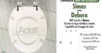 Copriwater LFT SPAZIO SIMAS compatibile laccato bianco lucido poliestere