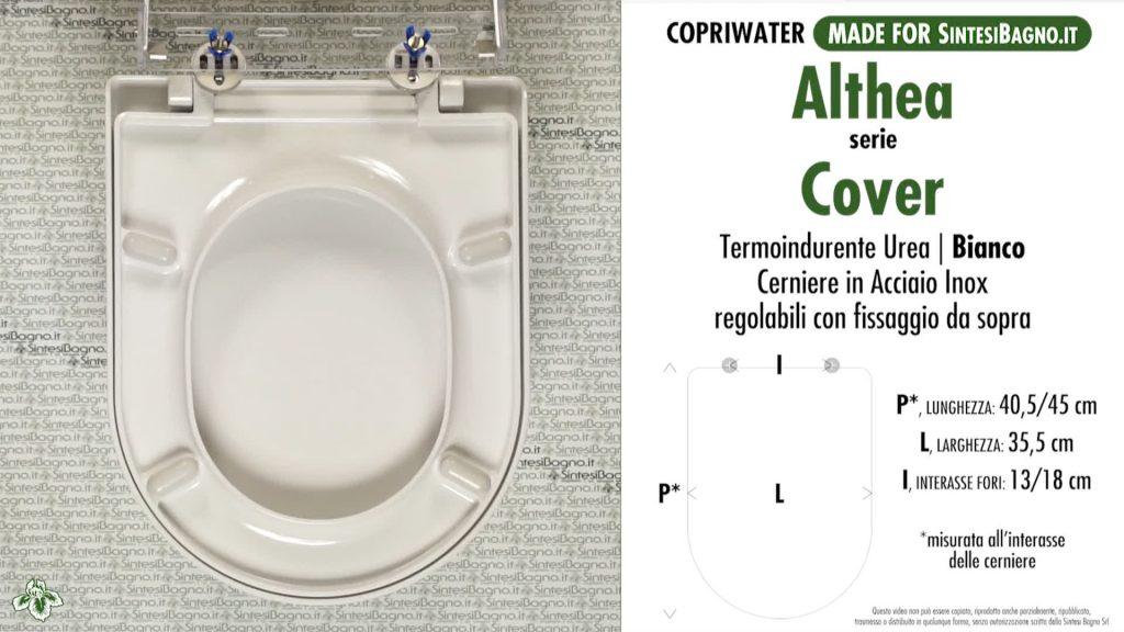 Copriwater. COVER. Althea. Sedile COMPATIBILE. Bianco