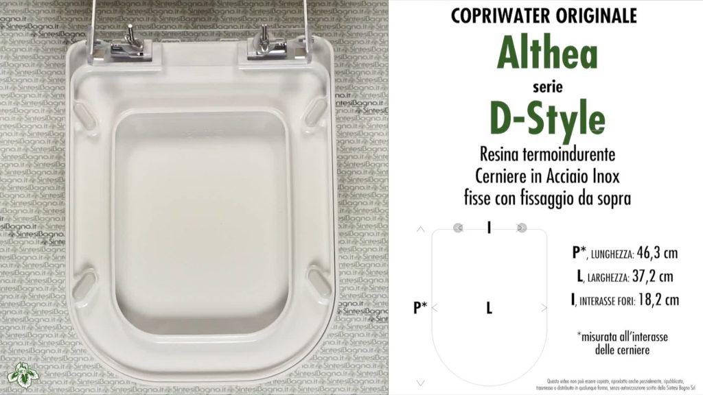 Copriwater. D-STYLE. Althea. Sedile ORIGINALE. Bianco