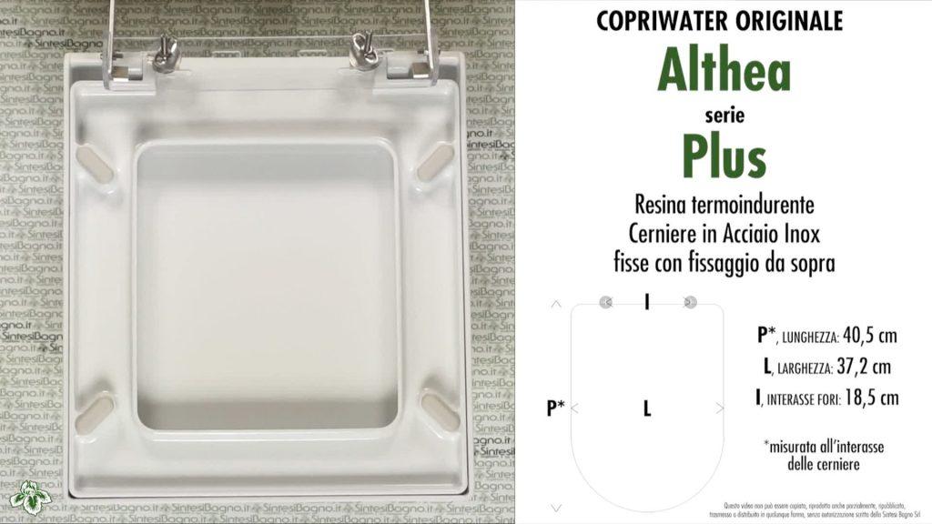Copriwater. PLUS. Althea. Sedile ORIGINALE. Bianco