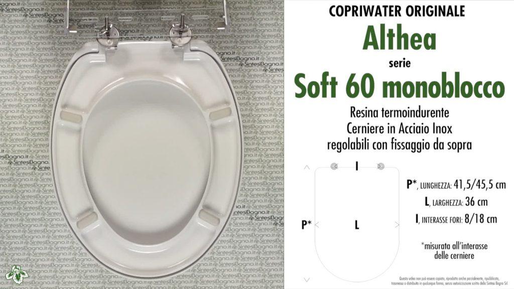 Copriwater. SOFT 60. Althea. Sedile ORIGINALE. Bianco