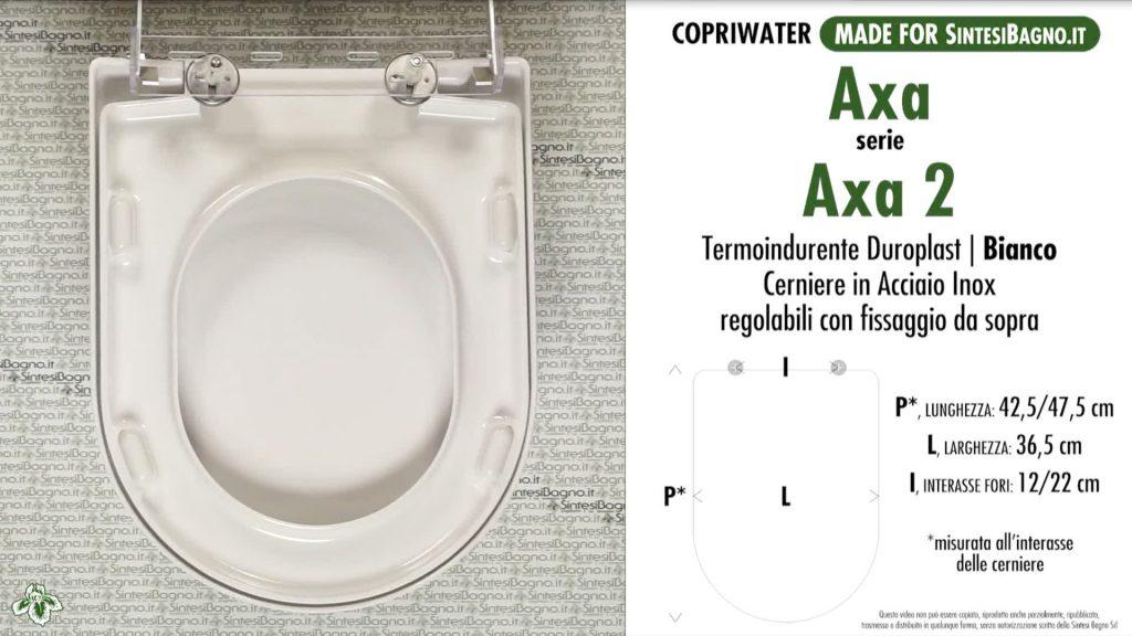 Copriwater. AXA 2. Axa. Sedile DEDICATO. Bianco. DUROPLAST