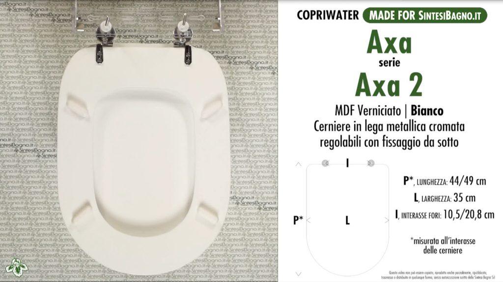Copriwater. AXA 2. Axa. Sedile COMPATIBILE. Bianco