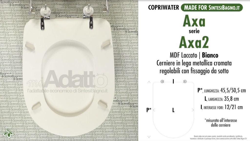 Copriwater. AXA 2. Axa. Sedile ADATTABILE. Bianco