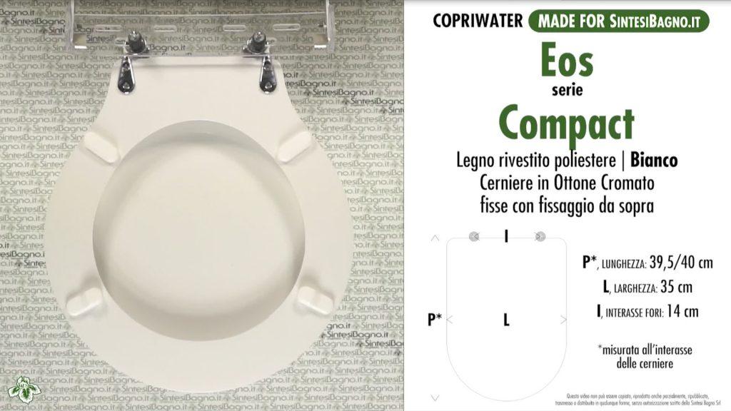 Copriwater. COMPACT. Eos. Sedile DEDICATO. Bianco
