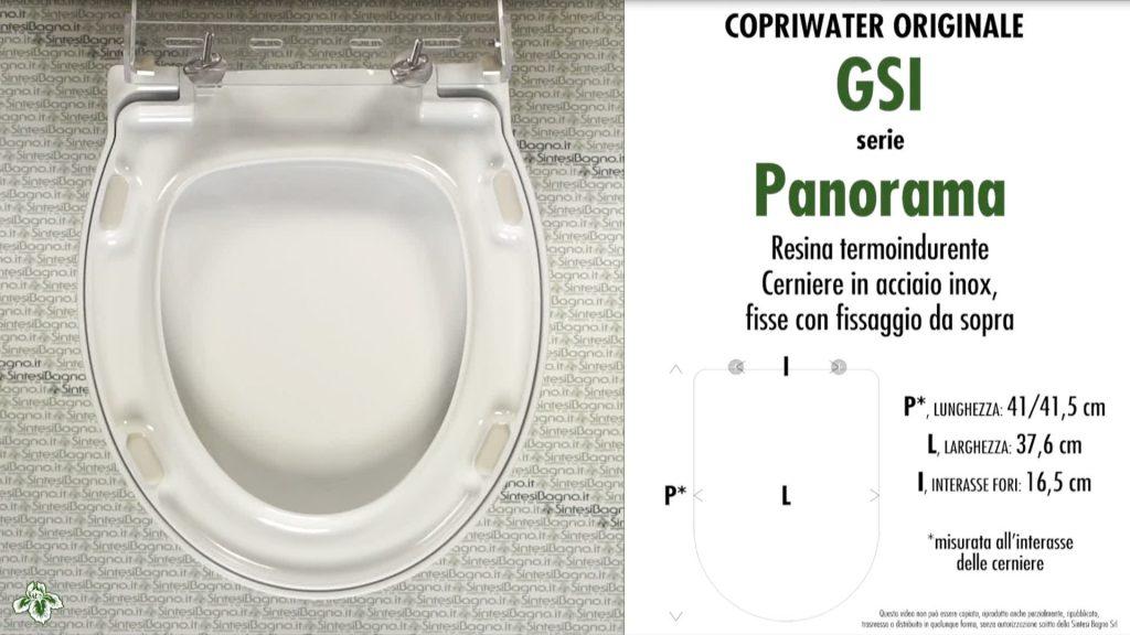 Copriwater. PANORAMA. Facis/GSI. Sedile ORIGINALE. Bianco